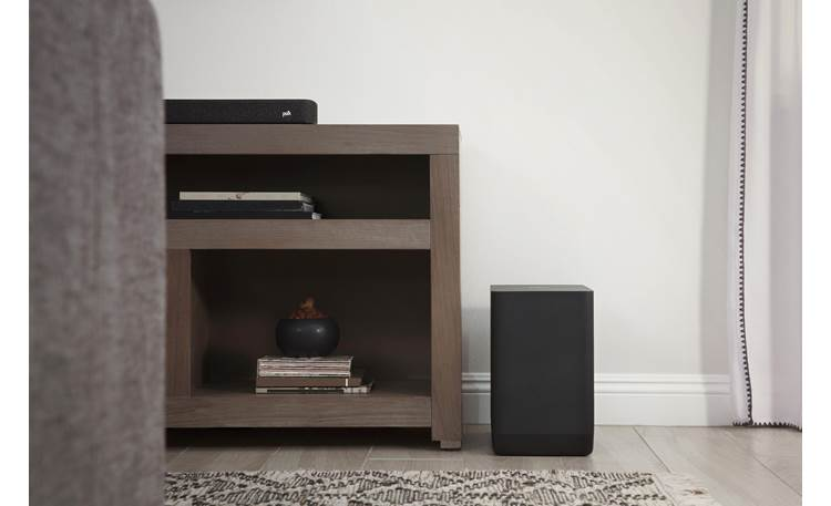 Polk Audio React Subwoofer Slim and compact for easy placement