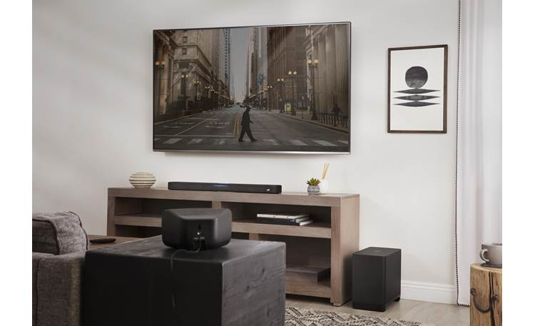 Polk Audio React Subwoofer Add Polk SR2 surround speakers for true wireless surround sound (sold separately)