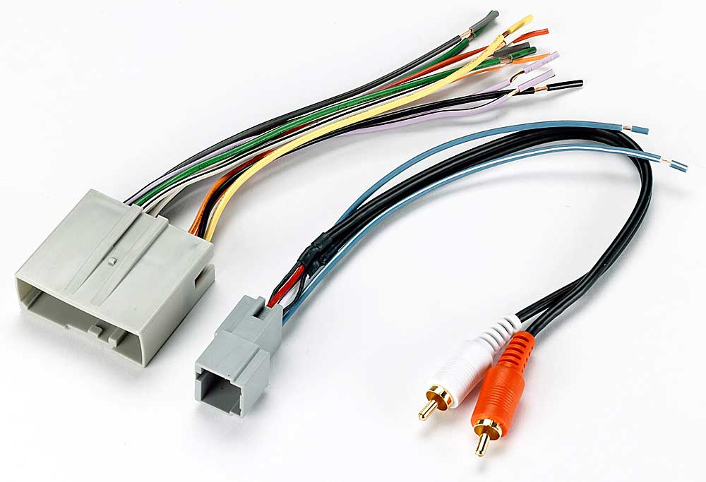 metra 70-5521 receiver wiring harness connect a new car stereo in select  2003-up ford, lincoln, mazda, and mercury vehicles at crutchfield canada