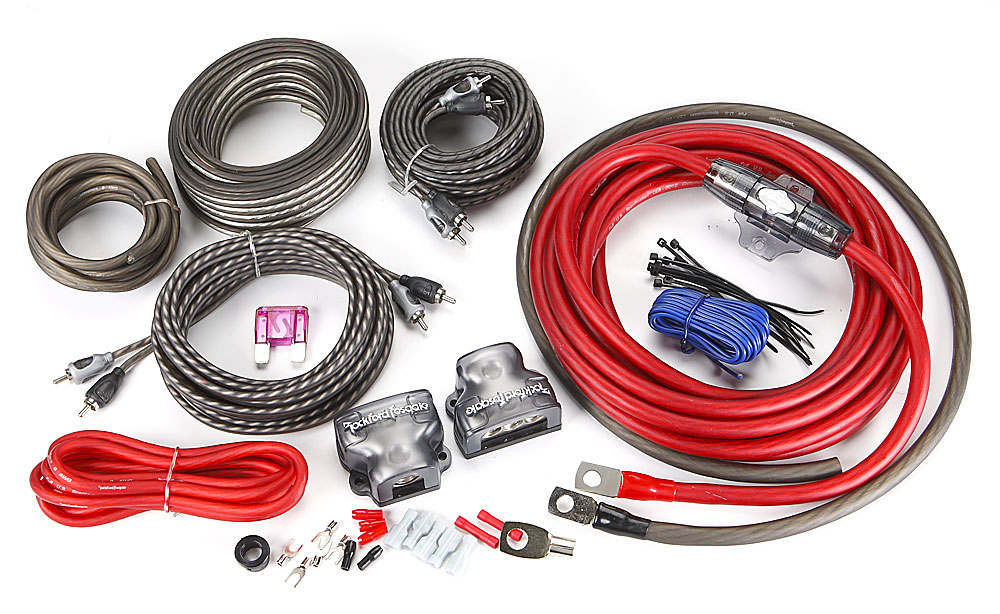 Rockford Fosgate RFK4D 4-gauge dual amplifier complete wiring kit at on