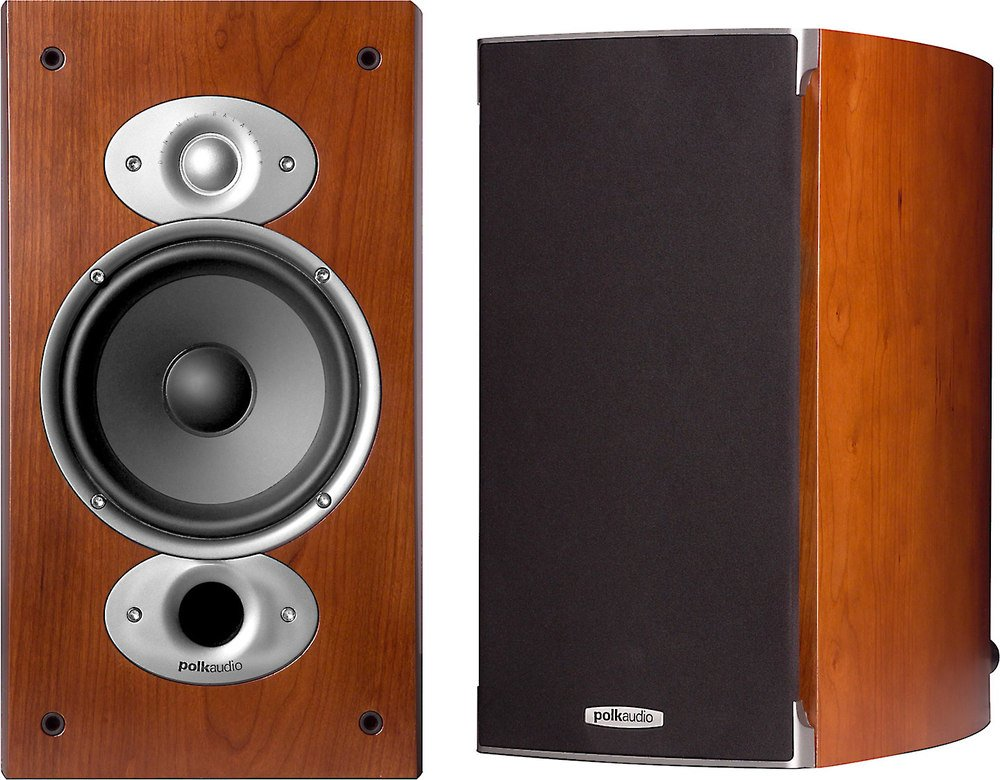 Polk Audio Rti A3  Cherry  Bookshelf Speakers At
