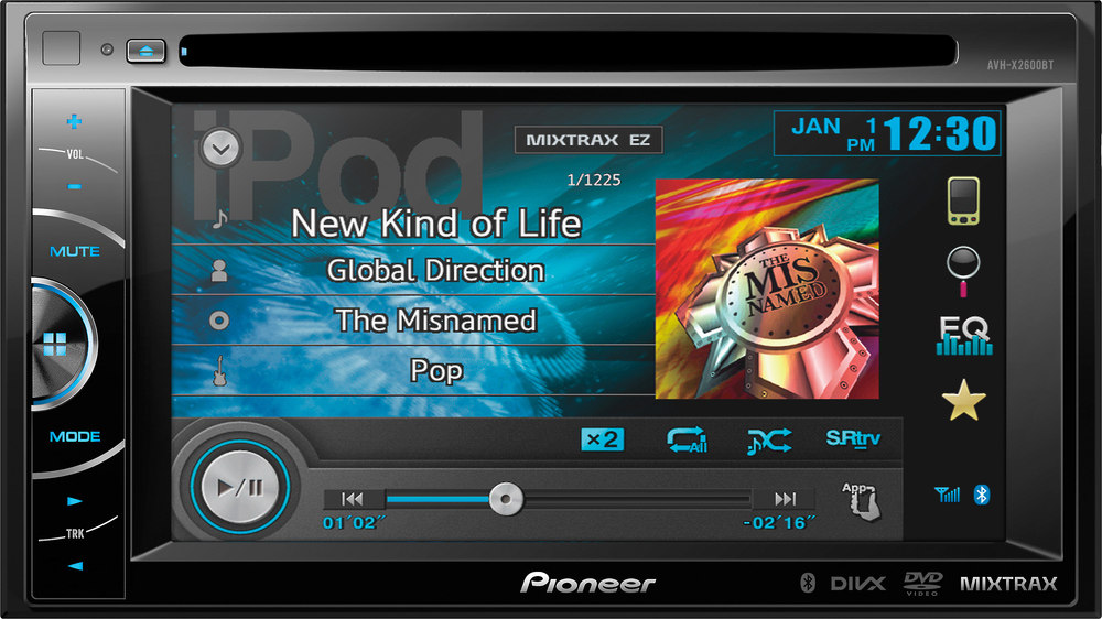 Pioneer Avh X2600bt Dvd Receiver At Crutchfield Canada