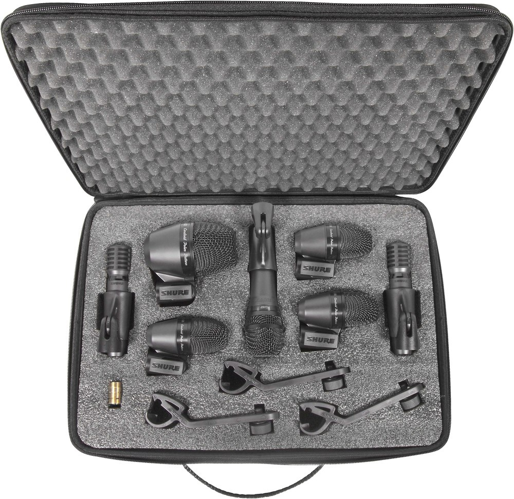 Shure drum kit microphones