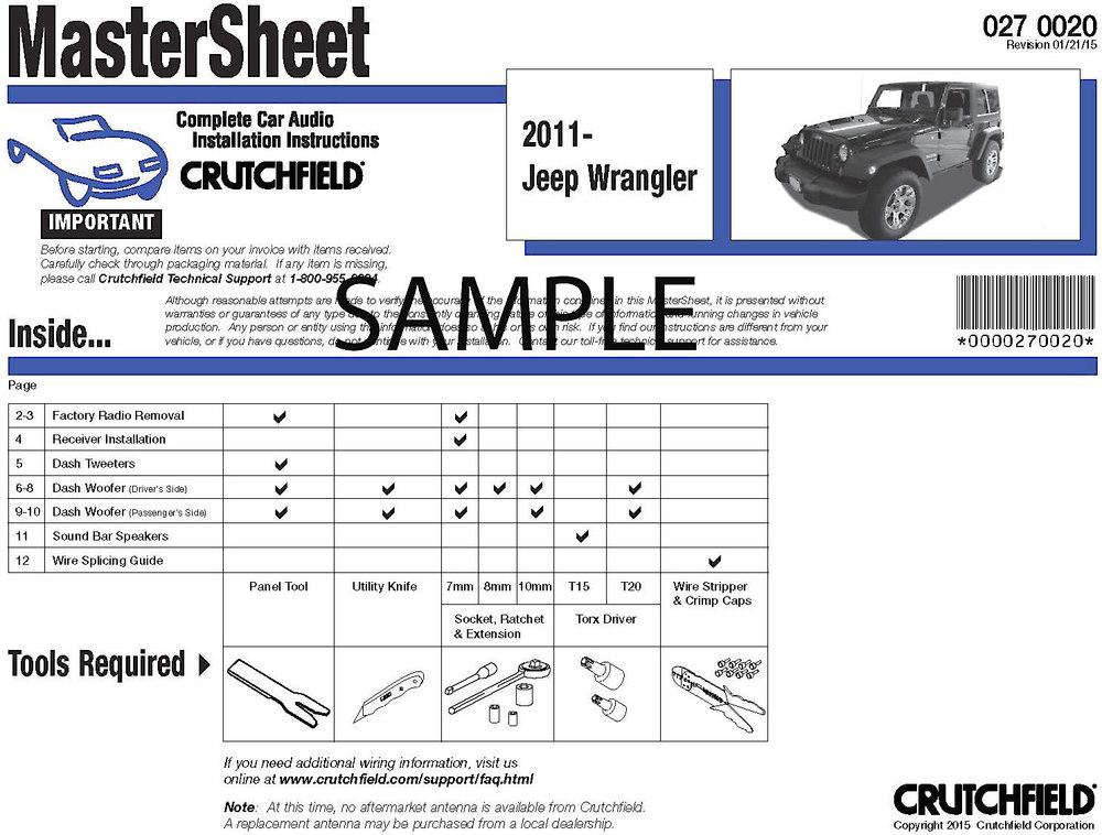 Crutchfield Car Audio Installation Instructions For Rh Ca 98 Silverado Wiring Diagram 2004 Radio: GM Radio Wiring Guide At Sewuka.co