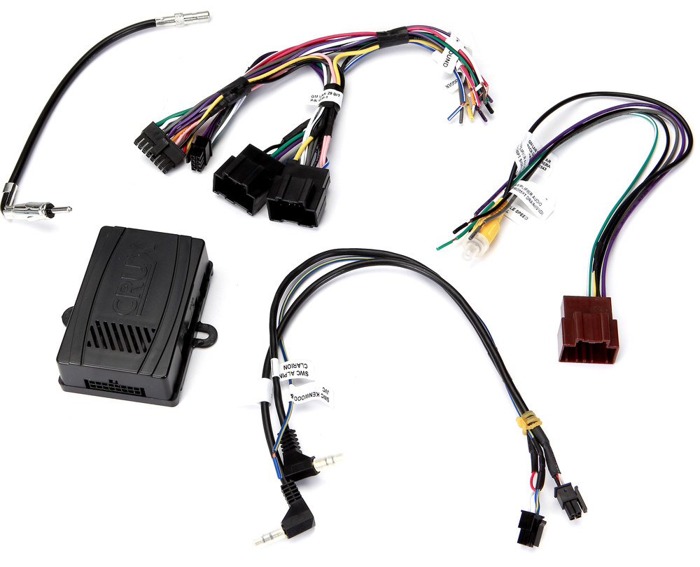 Crux Cs Gm29 Wiring Interface Connect A New Car Stereo And Retain Radio Diagram Gm Chime Steering Wheel Controls Factory Amp In Select 2006 Up Made Vehicles At Crutchfield